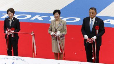 صورة افتتاح مركز الرياضات المائية لأولمبياد طوكيو